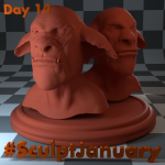 Day14_SculptJanuary