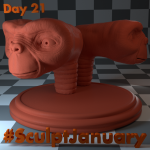 Day21_SculptJanuary